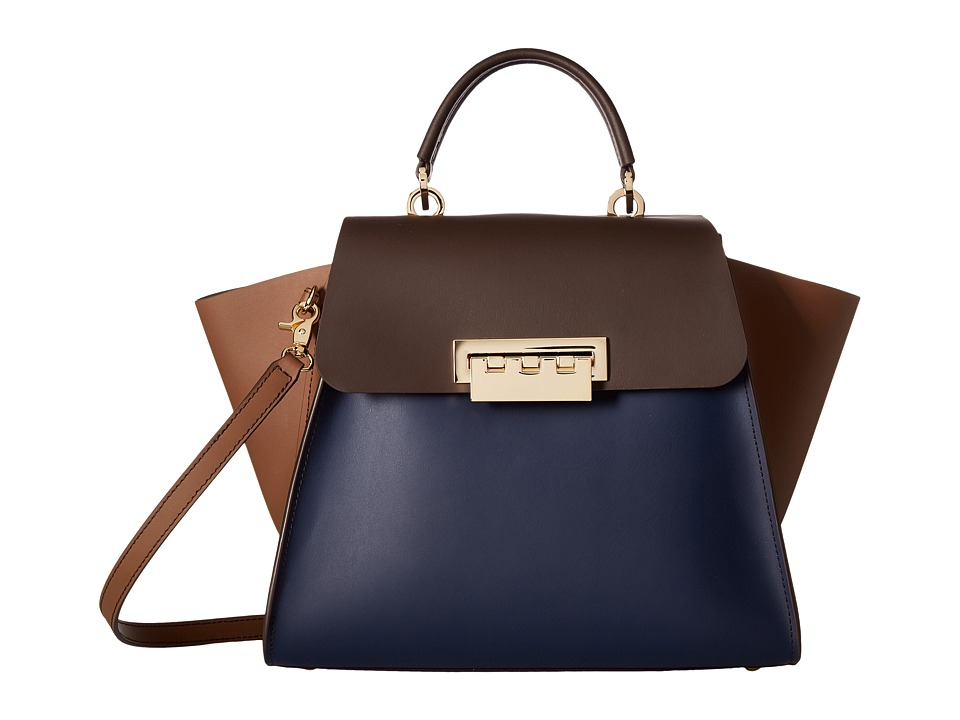 ZAC Zac Posen - Eartha Iconic Top Handle - Color Block (Tide) Top-handle Handbags