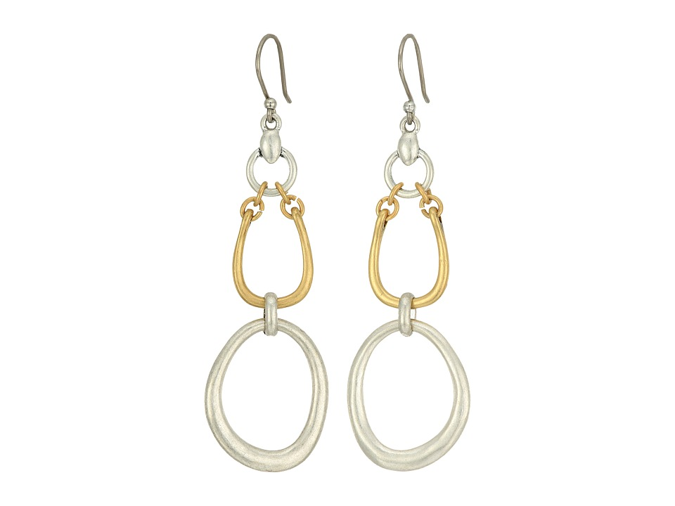 Lucky Brand - Chain Link Earrings (Two-Tone) Earring