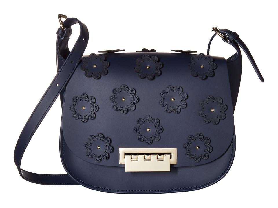 ZAC Zac Posen - Eartha Iconic Saddle - Floral Applique (Tide) Handbags