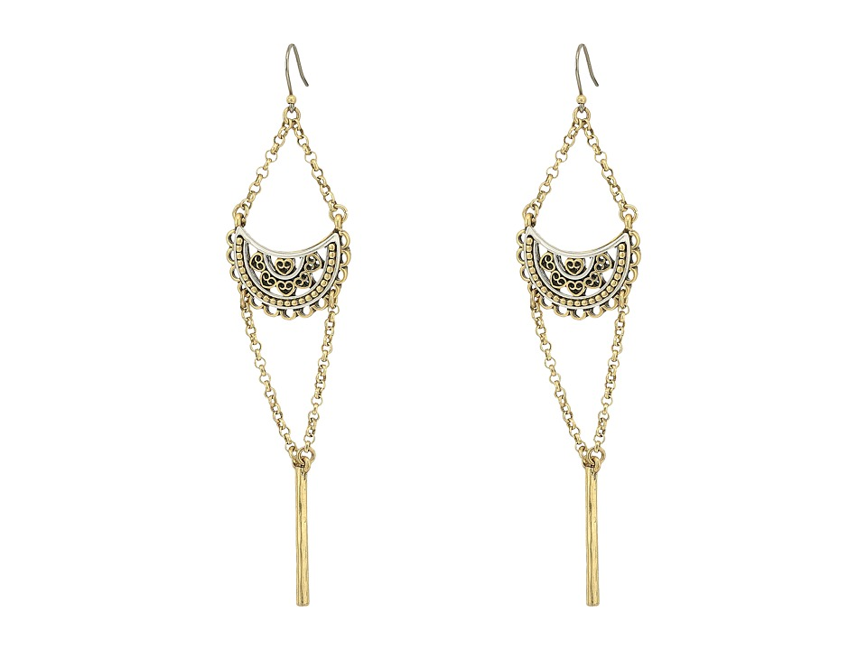 Lucky Brand - Openwork Chandelier Earrings III (Two-Tone) Earring
