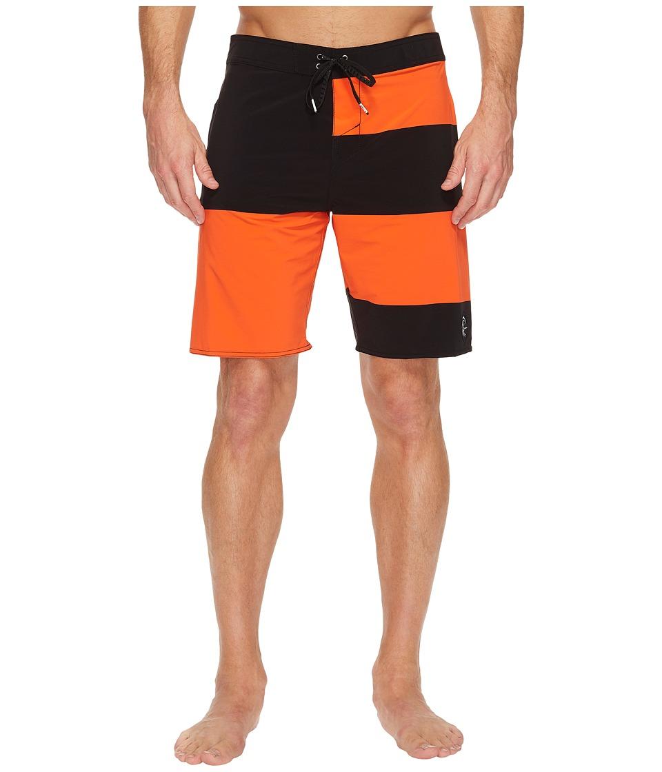 O'Neill - Hyperfreak Basis Superfreak Series Boardshorts (Neon Red) Men's Swimwear