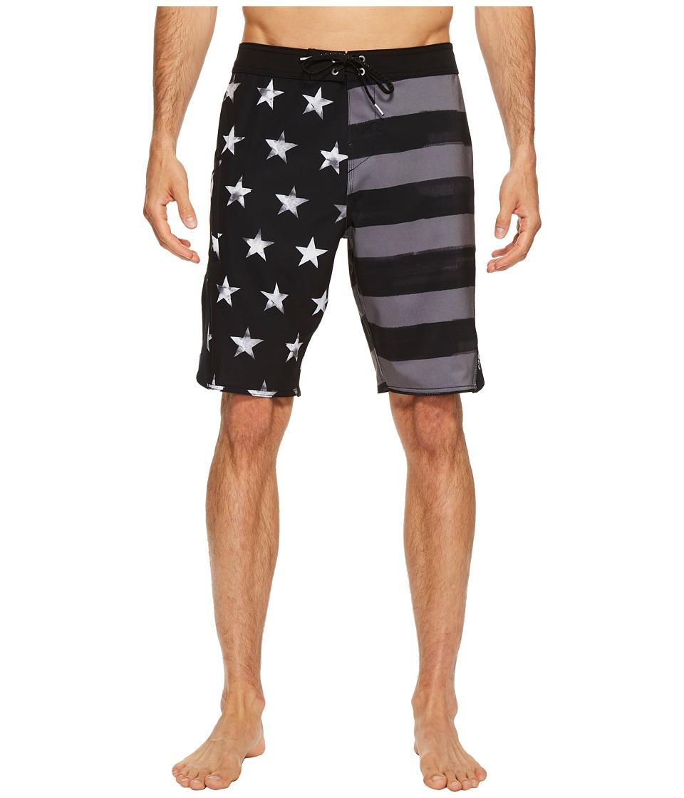 O'Neill - Superfreak Scallop Superfreak Series Boardshorts (Black) Men's Swimwear