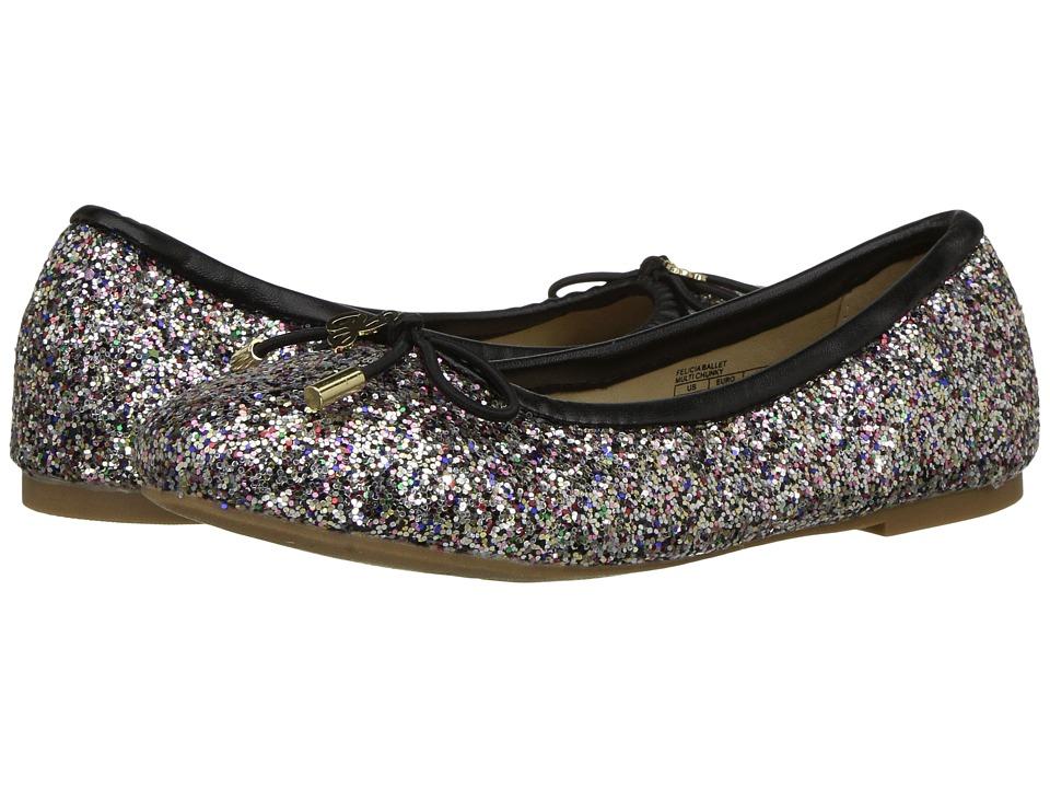 Sam Edelman Kids Felicia Ballet (Little Kid/Big Kid) (Black Multi Chunky Glitter) Girls Shoes