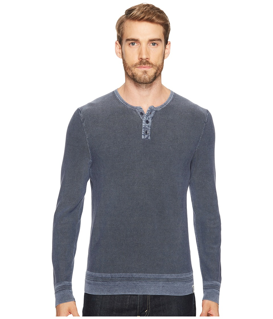 Lucky Brand - Black Label Henley (Parisian Night) Men's Clothing