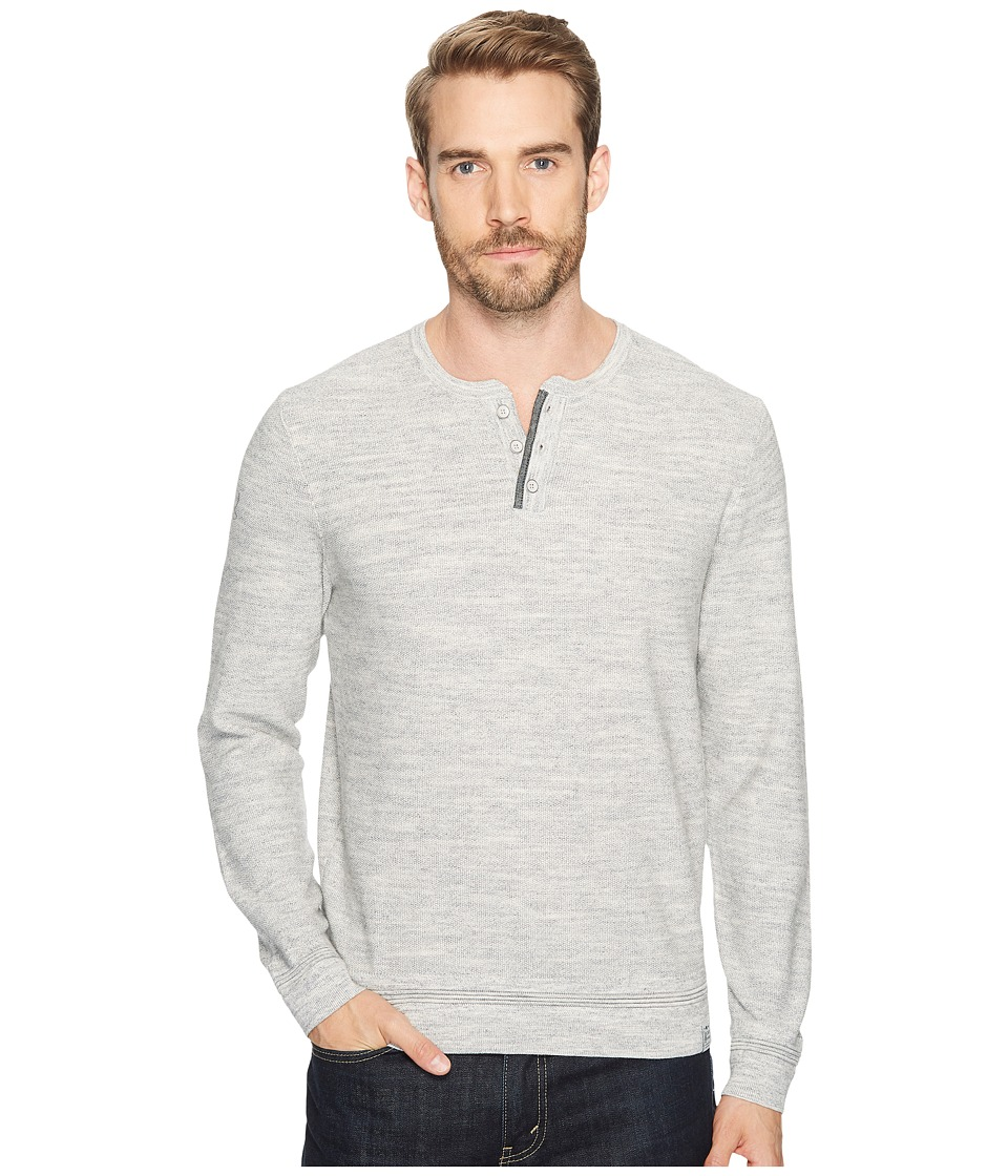 Lucky Brand - Welter Weight Sweater Henley (Medium Heather Grey) Men's Clothing