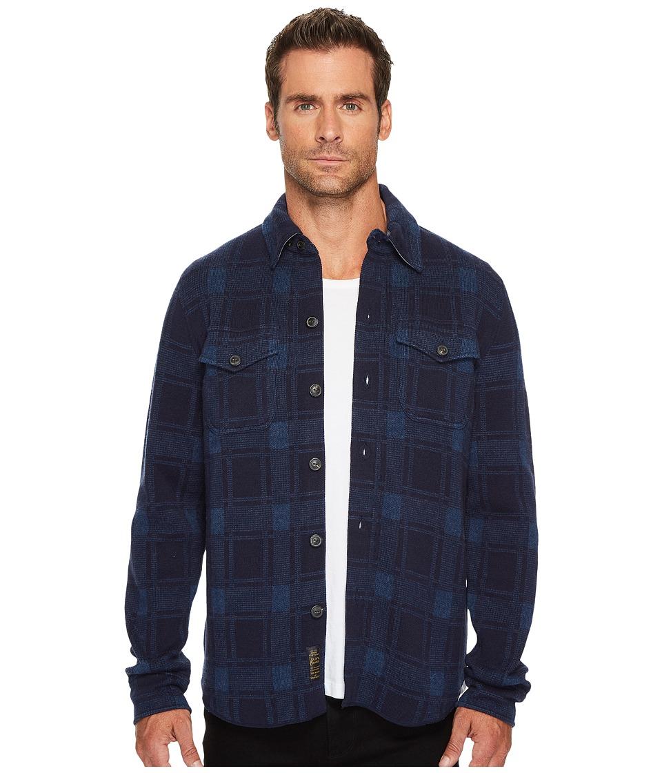 Lucky Brand Plaid Sweater Shirt (Navy/Blue) Men