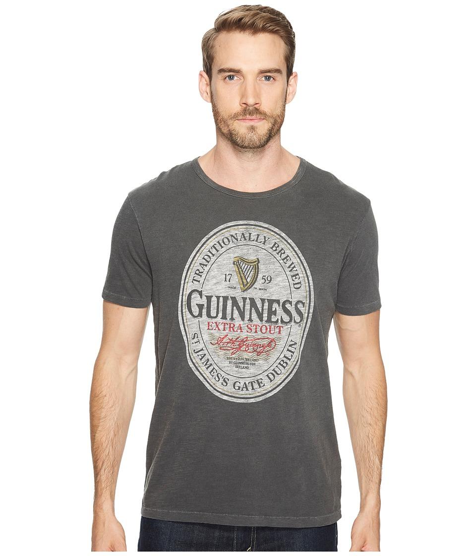 Lucky Brand Guinness Oval Graphic Tee (Jet Black) Men's T Shirt