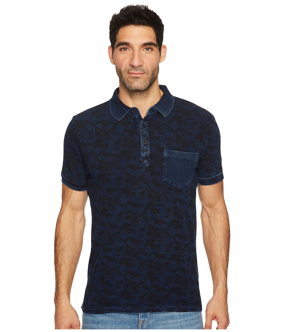 Lucky Brand - Indigo Palm Polo Shirt (Indigo) Men's Clothing