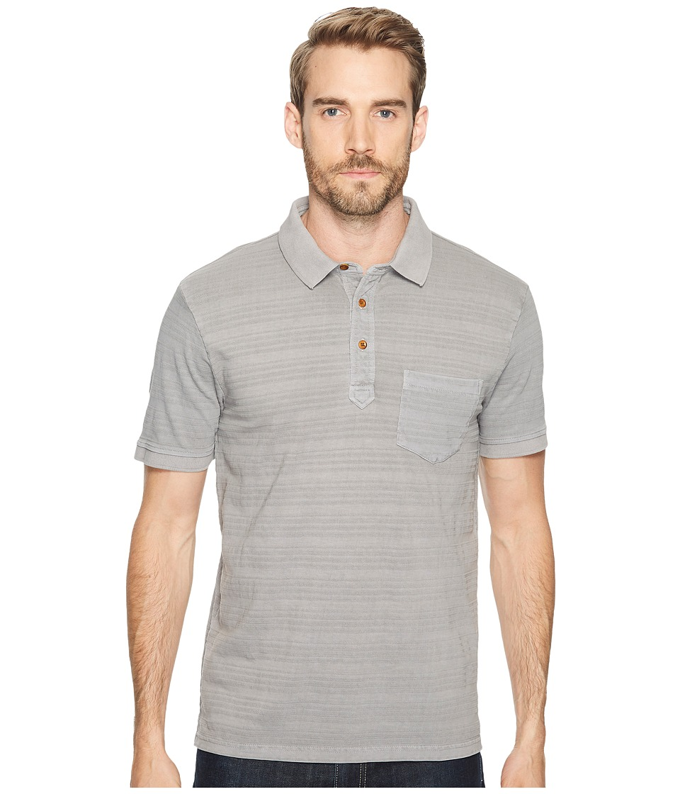 Lucky Brand - James Stripe Polo Shirt (Frost Grey) Men's Clothing