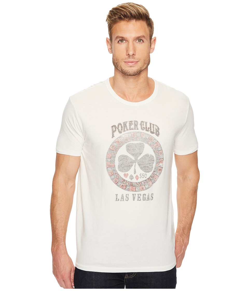 Lucky Brand - Poker Club Graphic Tee (Marshmallow) Men's T Shirt