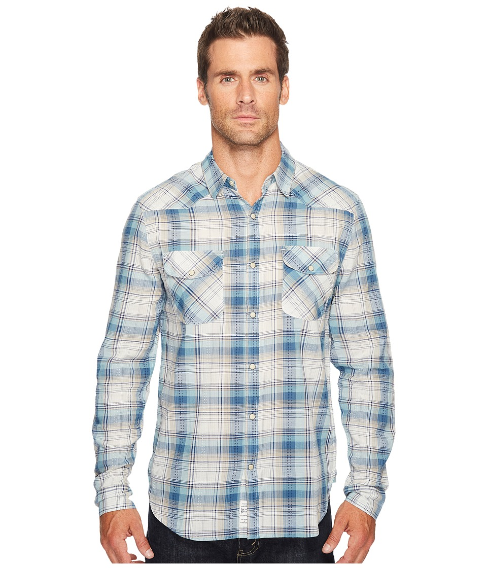 Lucky Brand - Santa Fe Western Shirt (Blue/Green/Natural) Men's Clothing