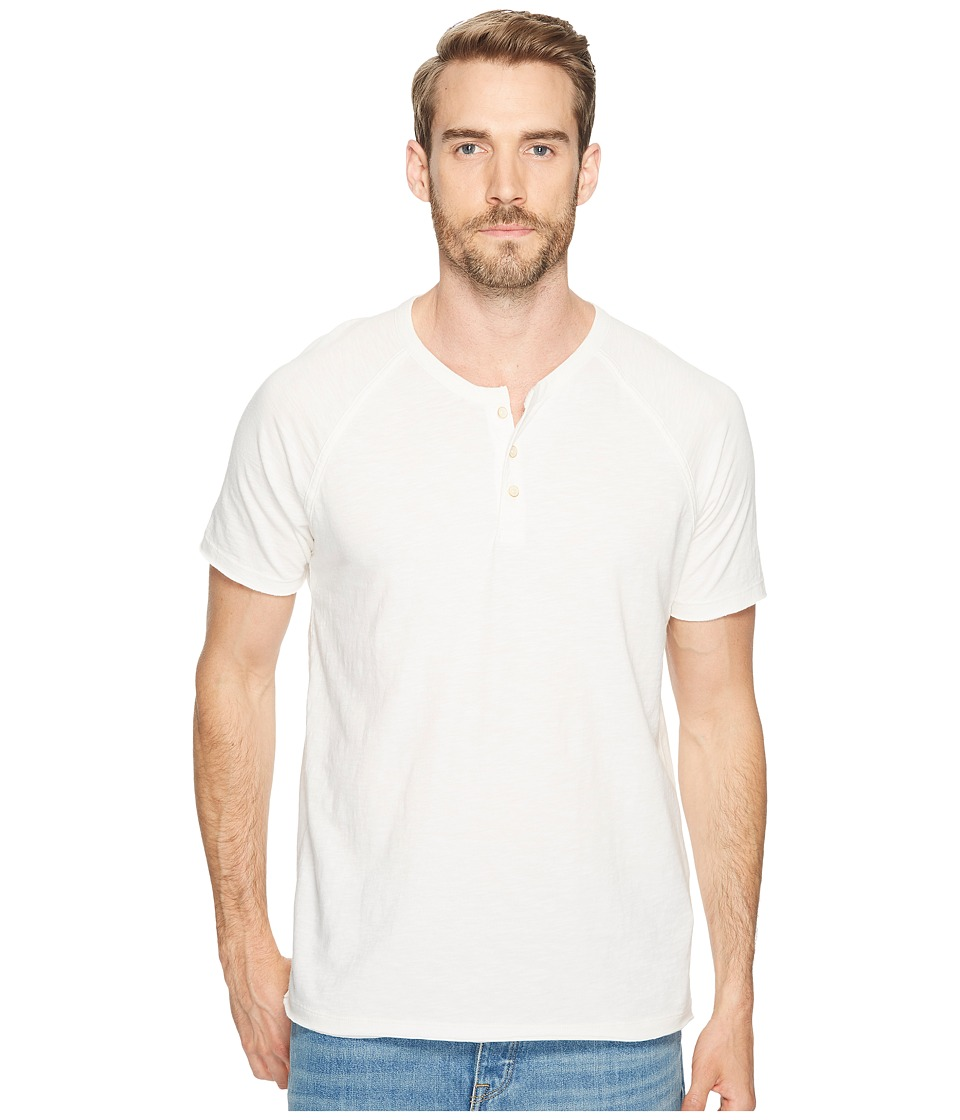 Lucky Brand - Pigment Dyed Henley (Mashmallow) Men's Clothing