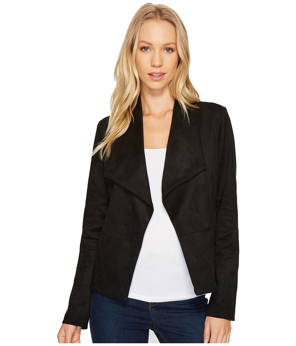 Karen Kane - Faux Suede Short Jacket (Black) Women's Coat
