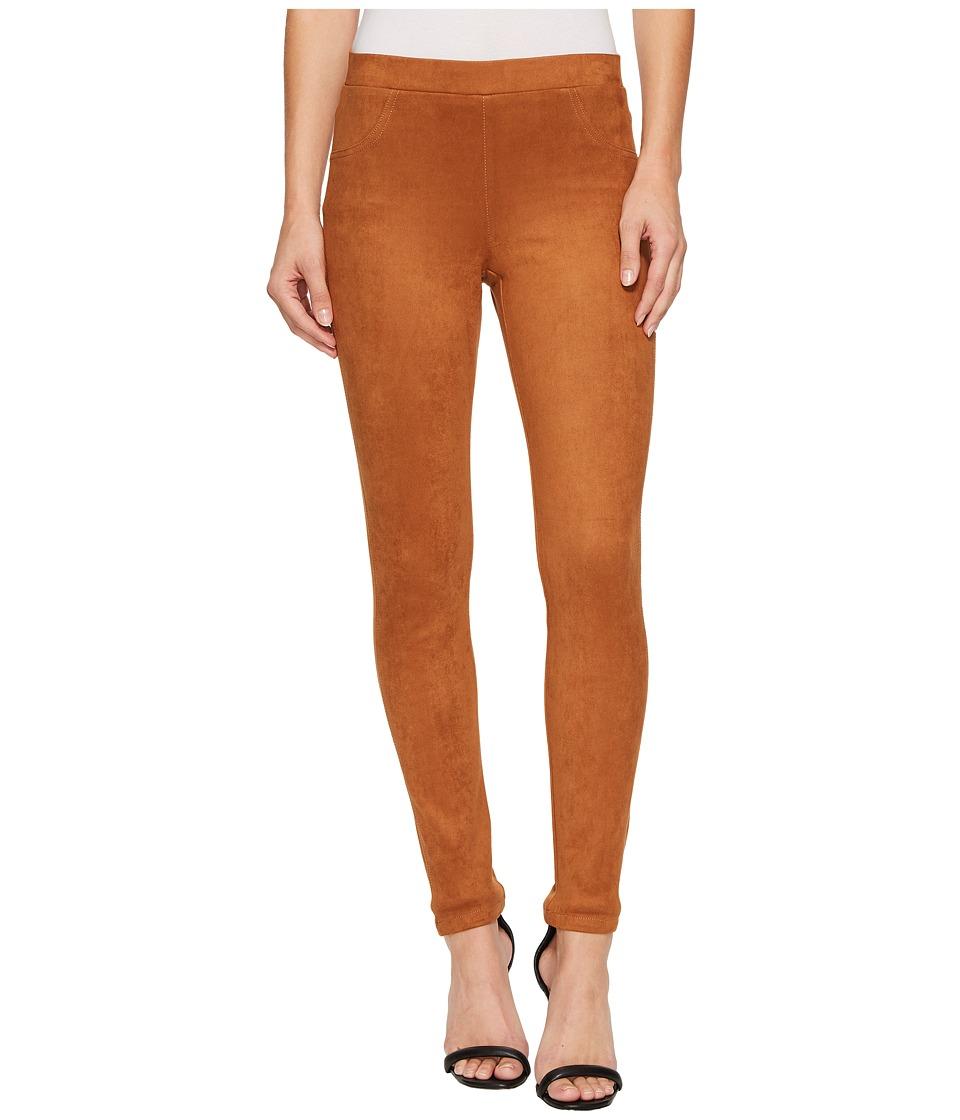 Karen Kane Faux Suede Pants (Cognac) Women's Casual Pants