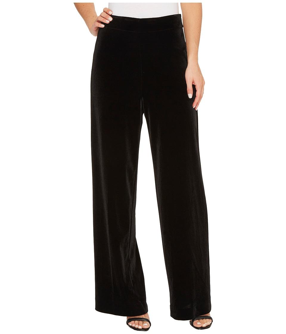 Karen Kane - Wide Leg Velvet Pants (Black) Women's Casual Pants