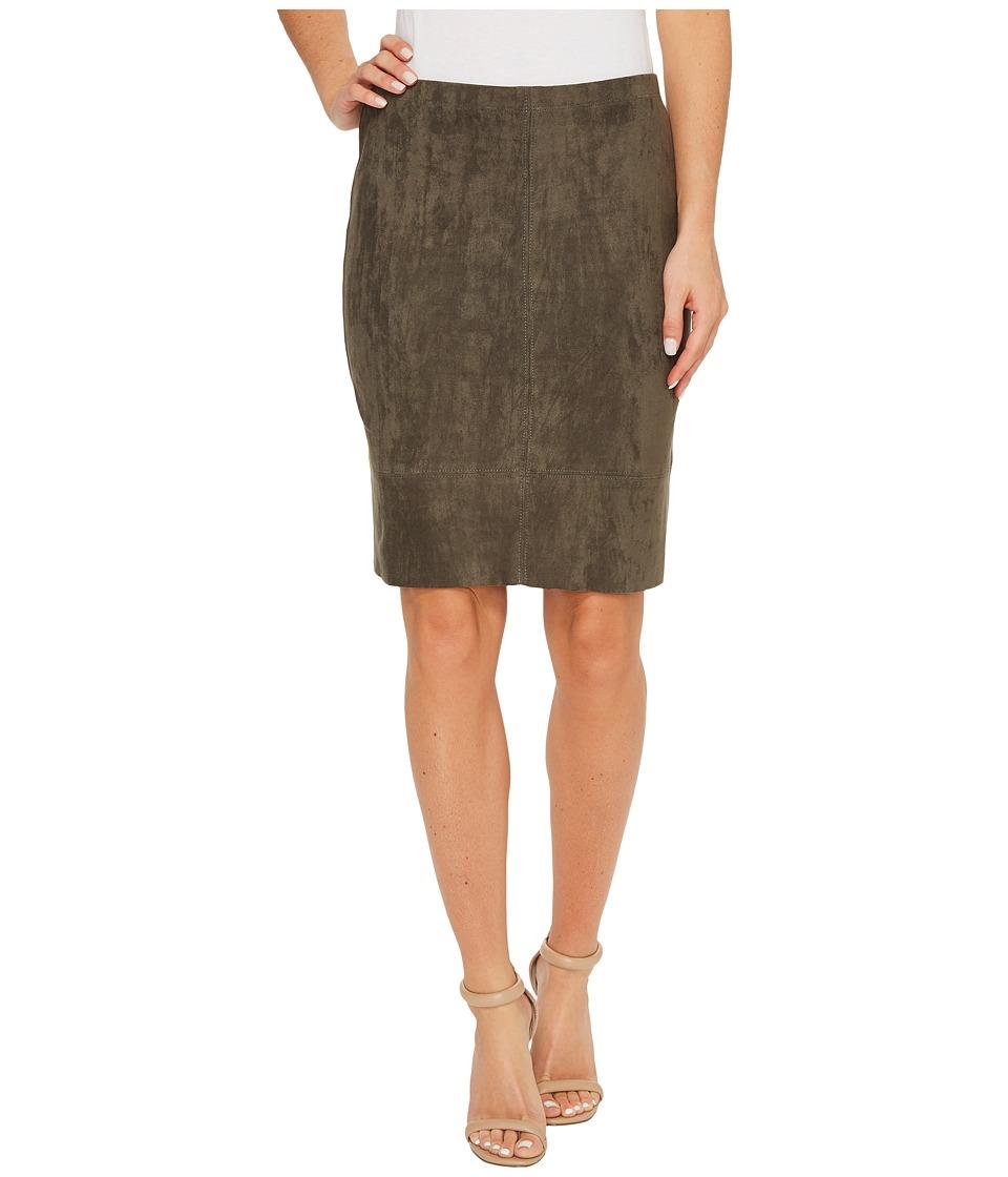 Karen Kane - Faux Suede Skirt (Slate) Women's Skirt