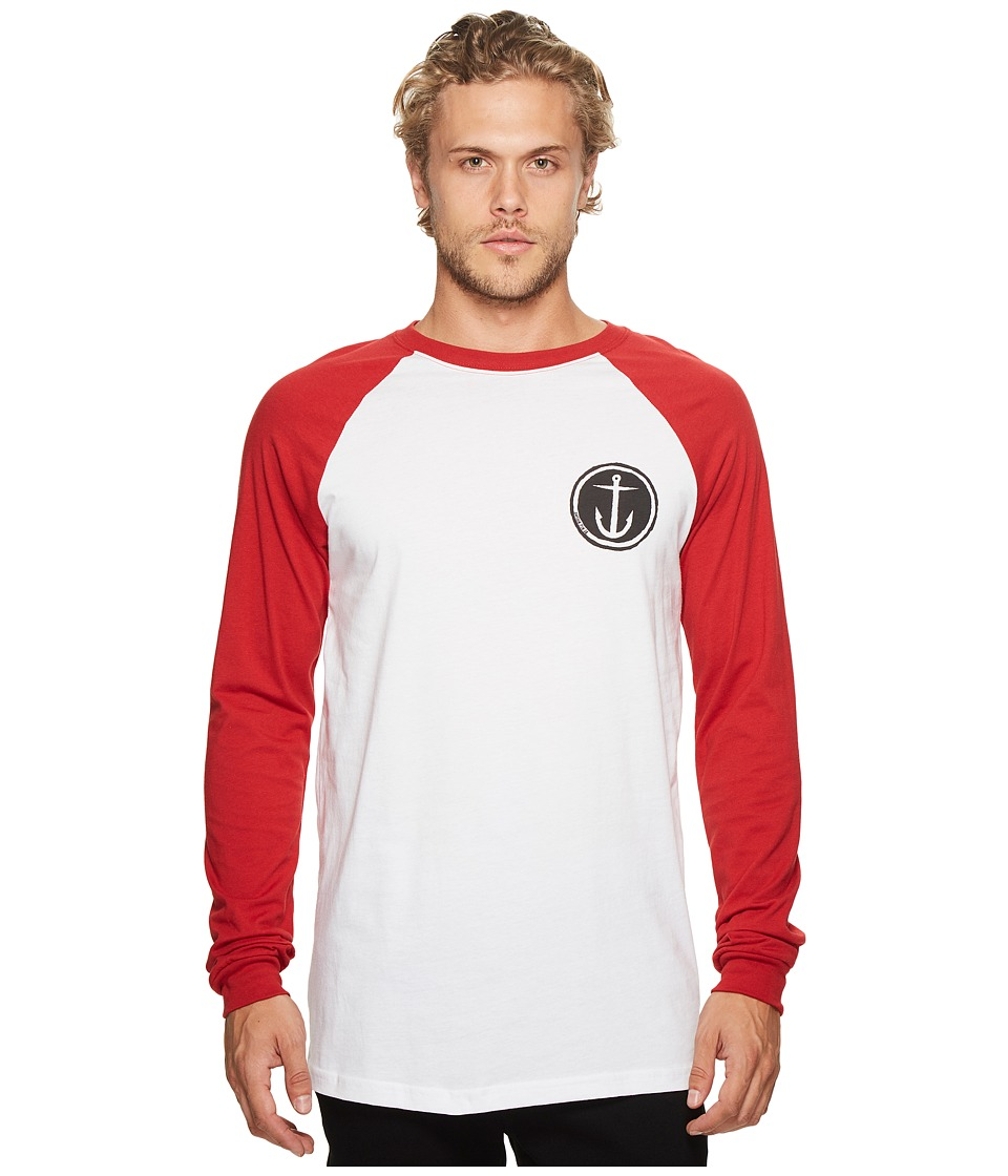 Captain Fin - Tally Ho Long Sleeve Tee (White/Red) Men's T Shirt
