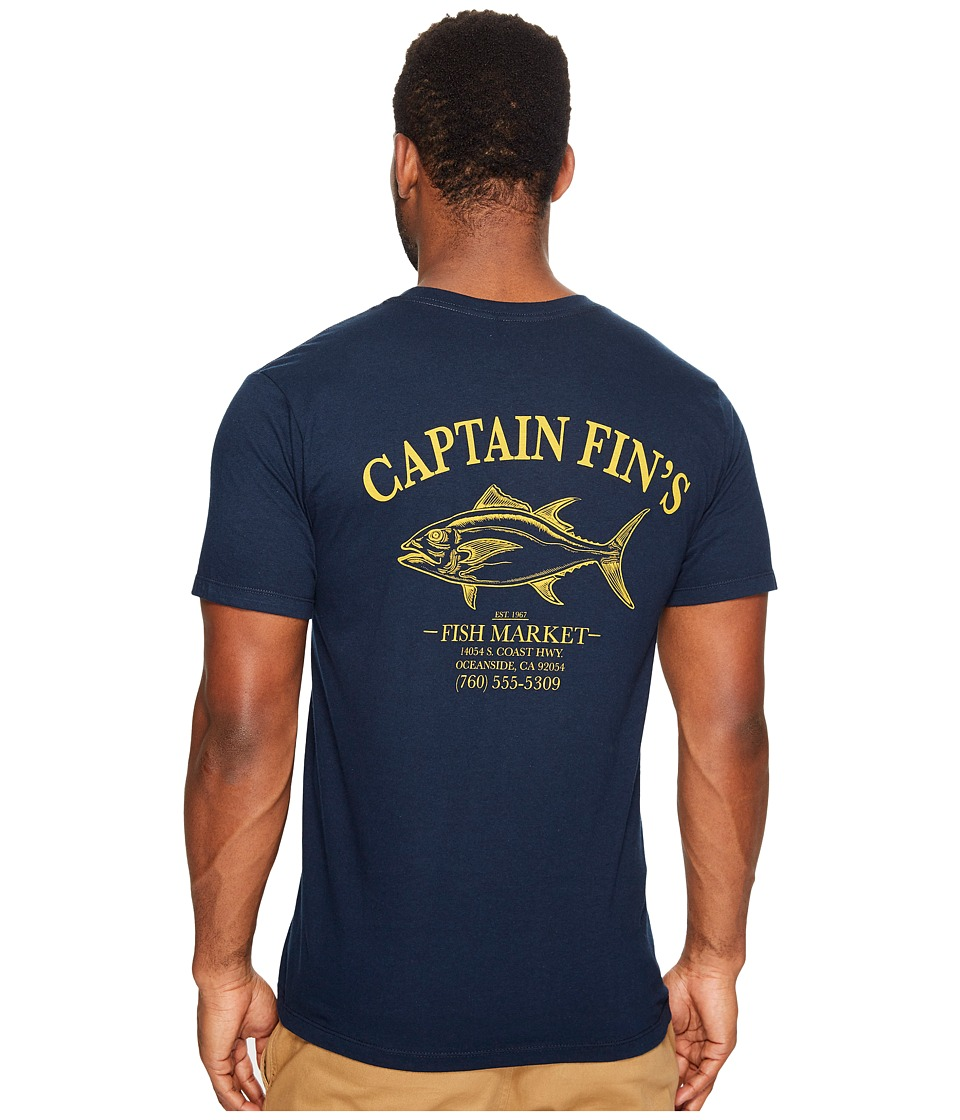 Captain Fin - Fish Market Tee (Navy) Men's T Shirt