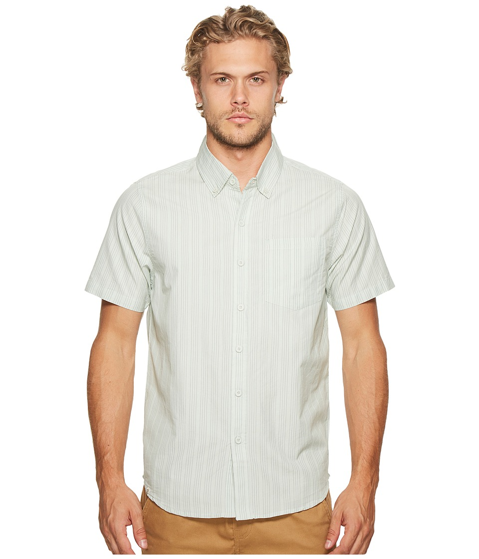 Captain Fin - Verticool Short Sleeve Woven Top (Light Blue) Men's Clothing