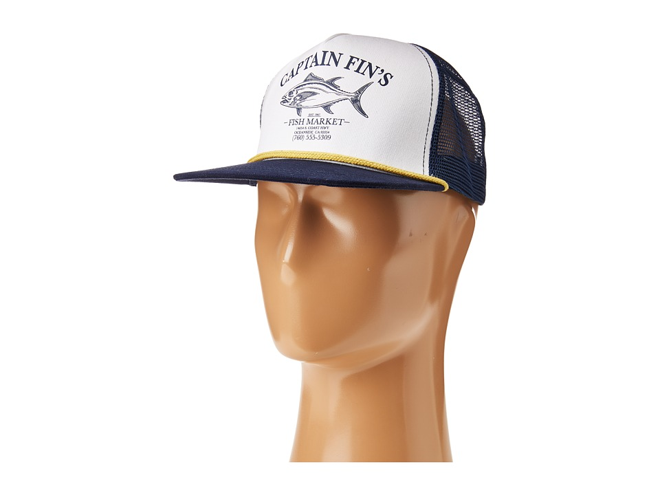 Captain Fin - Fish Market Hat (White/Navy) Caps
