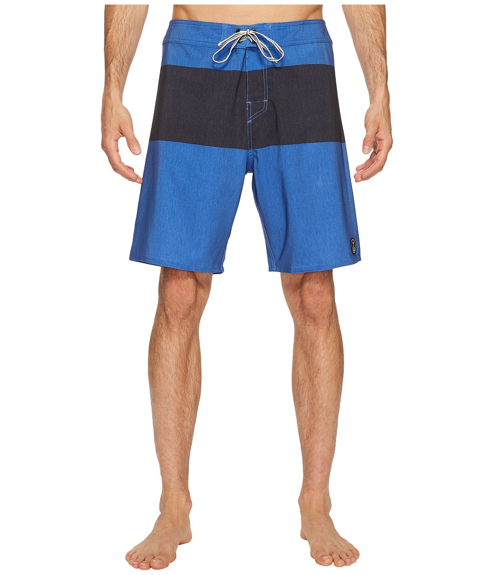 Captain Fin - Harry Panel Boardshort (Blue) Men's Swimwear