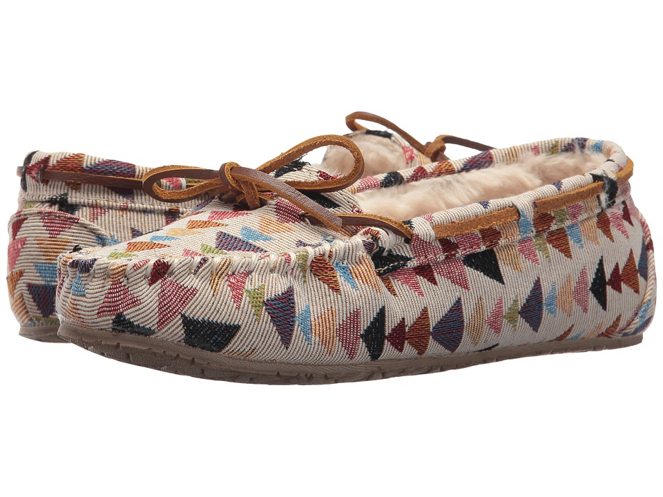 Minnetonka - Woven Gina Trapper (Cream Kaleidoscope Print) Women's Shoes
