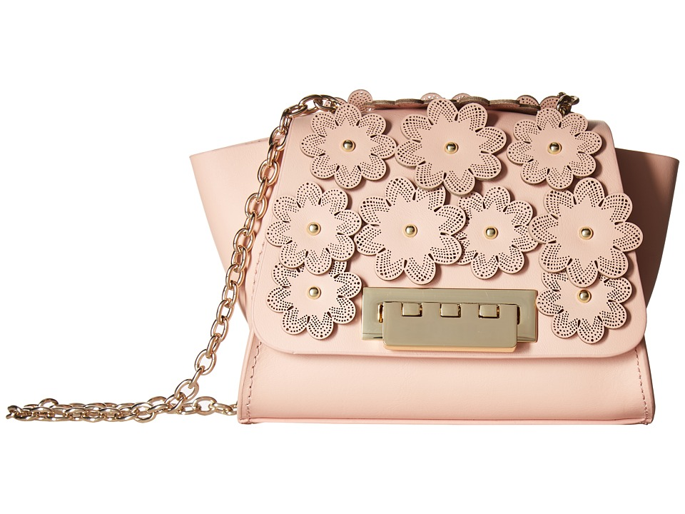 ZAC Zac Posen - Eartha Iconic Mini Crossbody - Floral Applique (Shell) Cross Body Handbags