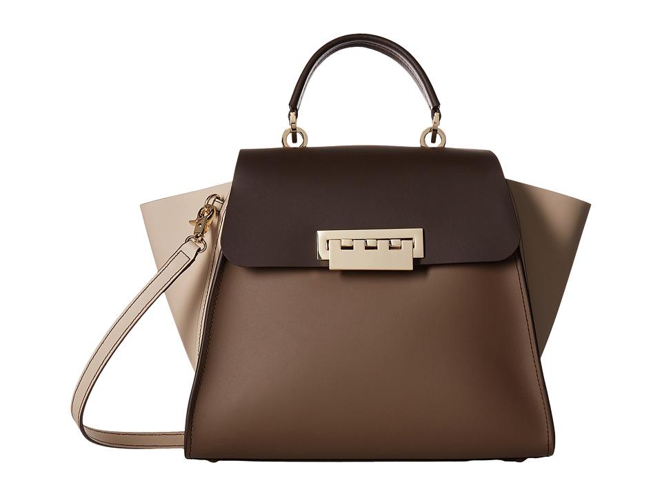 ZAC Zac Posen - Eartha Iconic Top Handle - Color Block (Urchin) Top-handle Handbags