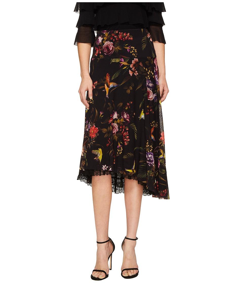 FUZZI - Hummingbird 3/4 Lace Trim Tulle Skirt (Nero) Women's Skirt
