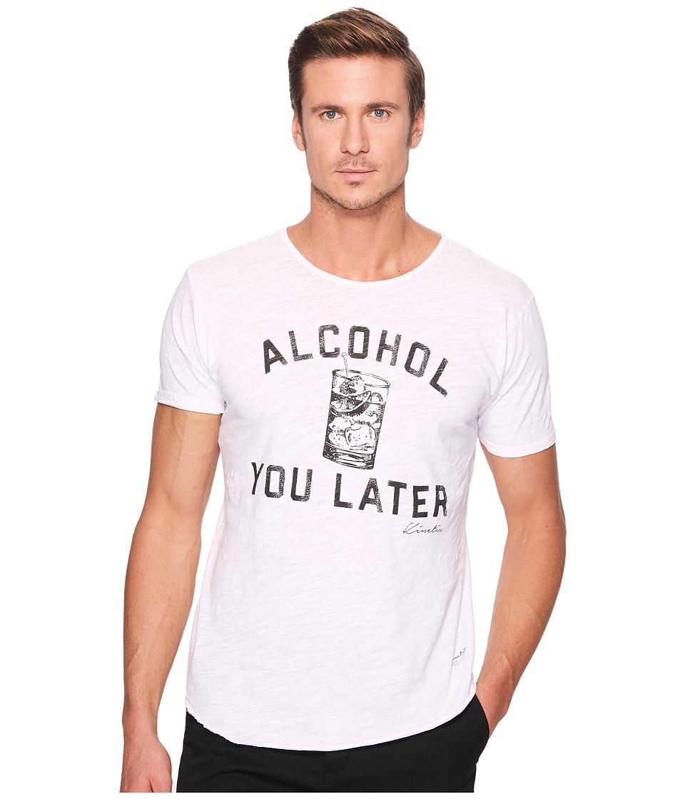 KINETIX - Alcohol You Later (White) Men's Clothing