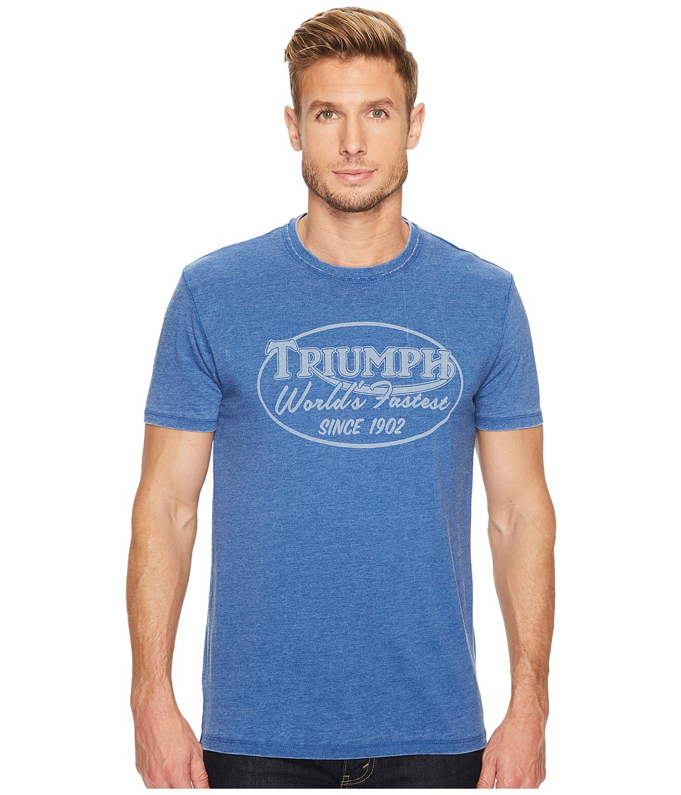 Lucky Brand - World's Finest Triumph Graphic Tee (Monaco Blue) Men's T Shirt