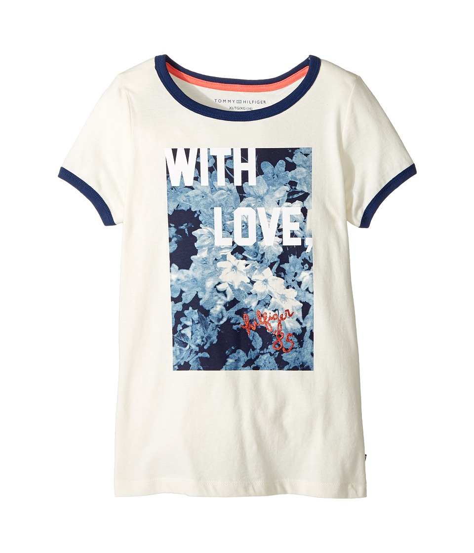 Tommy Hilfiger Kids - With Love Tee (Big Kids) (Whisper White) Girl's T Shirt