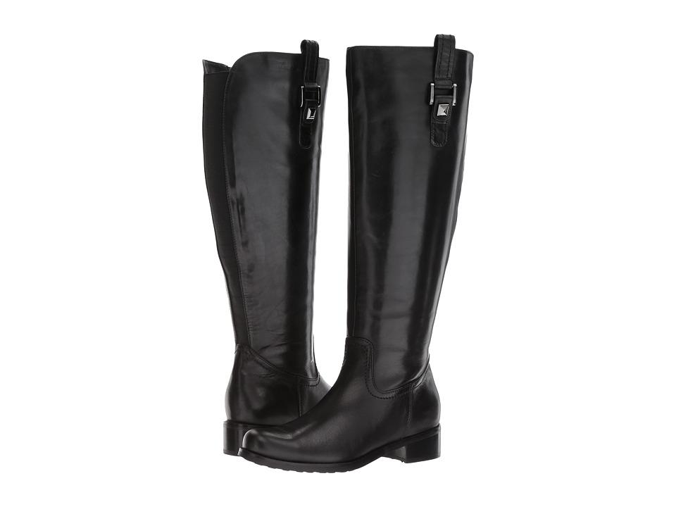 Blondo Velvet Wide Shaft Waterproof (Black Leather) Women