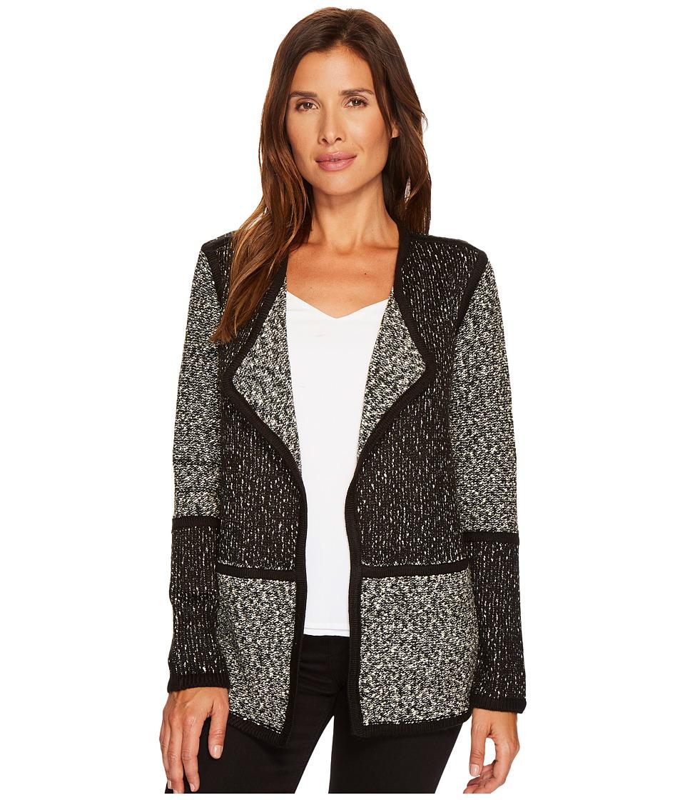 Calvin Klein Blocked Flyaway Sweater (Black/White) Women