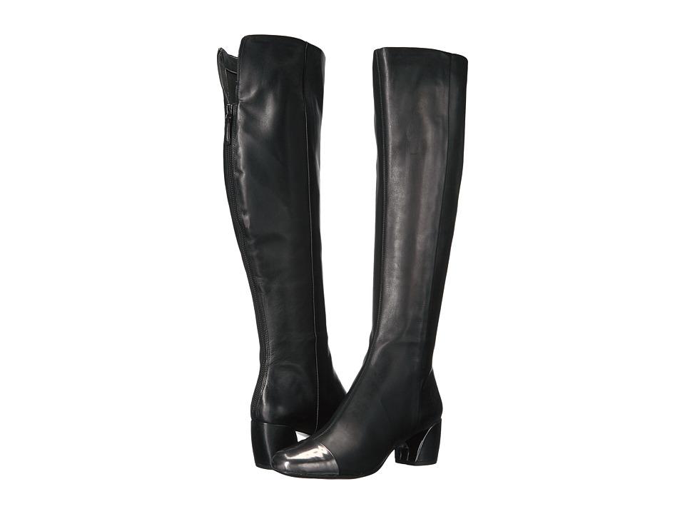 Nine West Jatoba (Black/Pewter Leather) Women