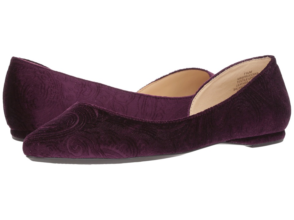Nine West Spruce9x9 Flat (Purple Fabric) Women