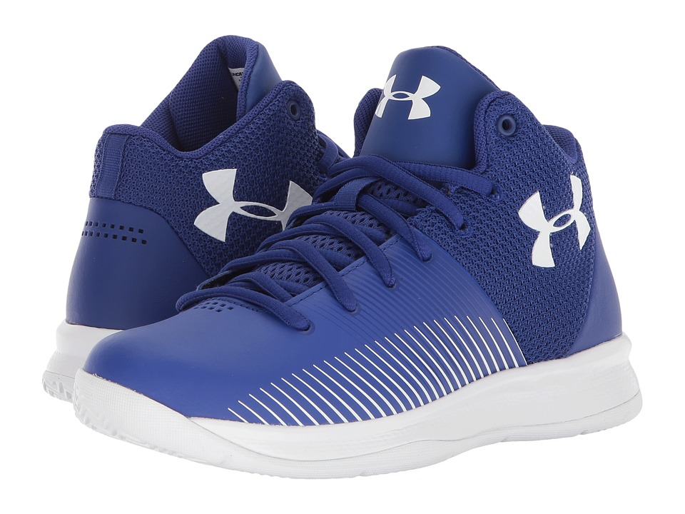 Under Armour Kids UA BPS Surge Basketball (Little Kid) (Blue/White) Boys Shoes