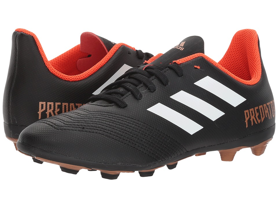 adidas Kids Predator 18.4 FG (Little Kid/Big Kid) (Black/White/Solar Red) Kids Shoes