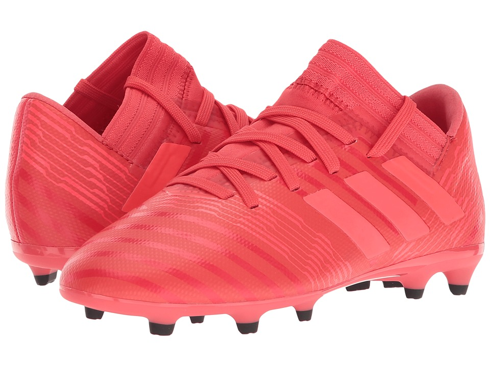 adidas Kids Nemeziz 17.3 FG J Soccer (Little Kid/Big Kid) (Real Coral/Red Zest/Black) Kids Shoes