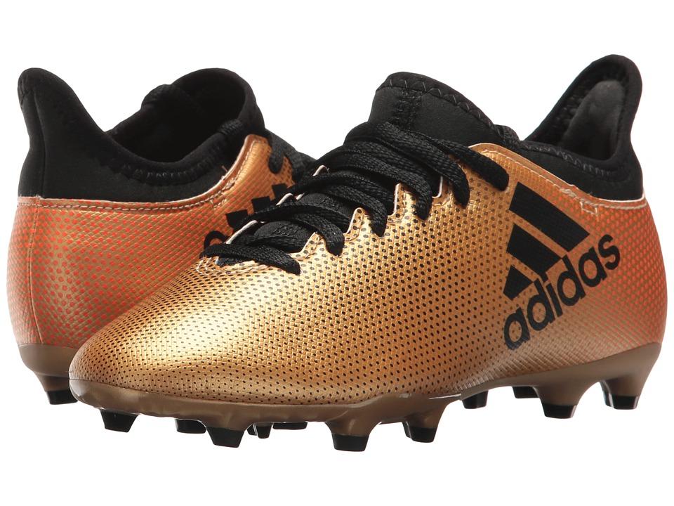 adidas Kids X 17.3 FG (Little Kid/Big Kid) (Tactile Gold/Black/Solar Red) Kids Shoes