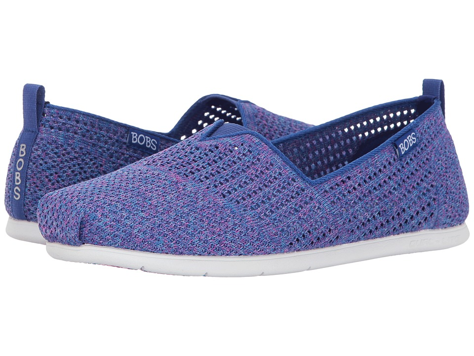 BOBS from SKECHERS - Plush Lite - Be Cool (Blue Multi) Women's Shoes