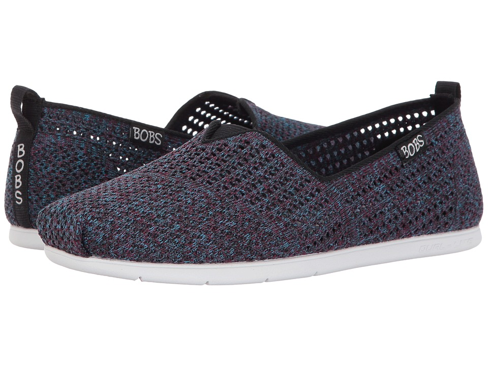BOBS from SKECHERS Plush Lite Be Cool (Black Multi) Women