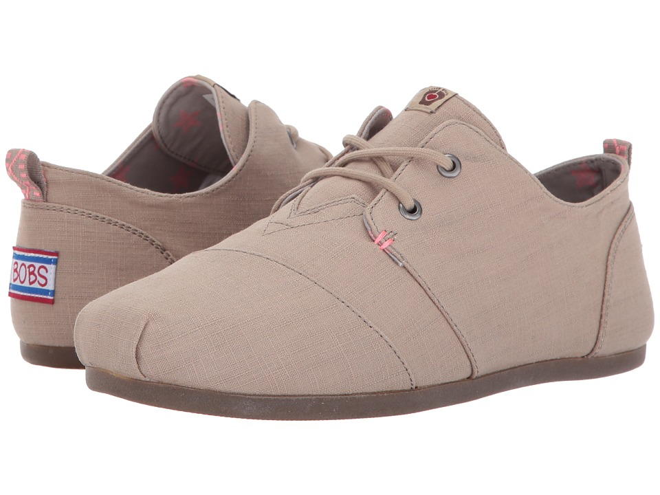 BOBS from SKECHERS - Bobs Plush - Star Struck (Taupe) Women's Shoes