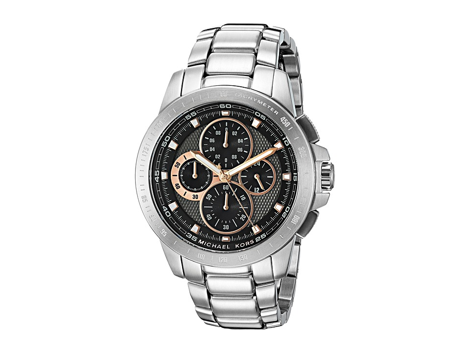 Michael Kors - Ryker Stainless Steel (Black/Silver) Watches