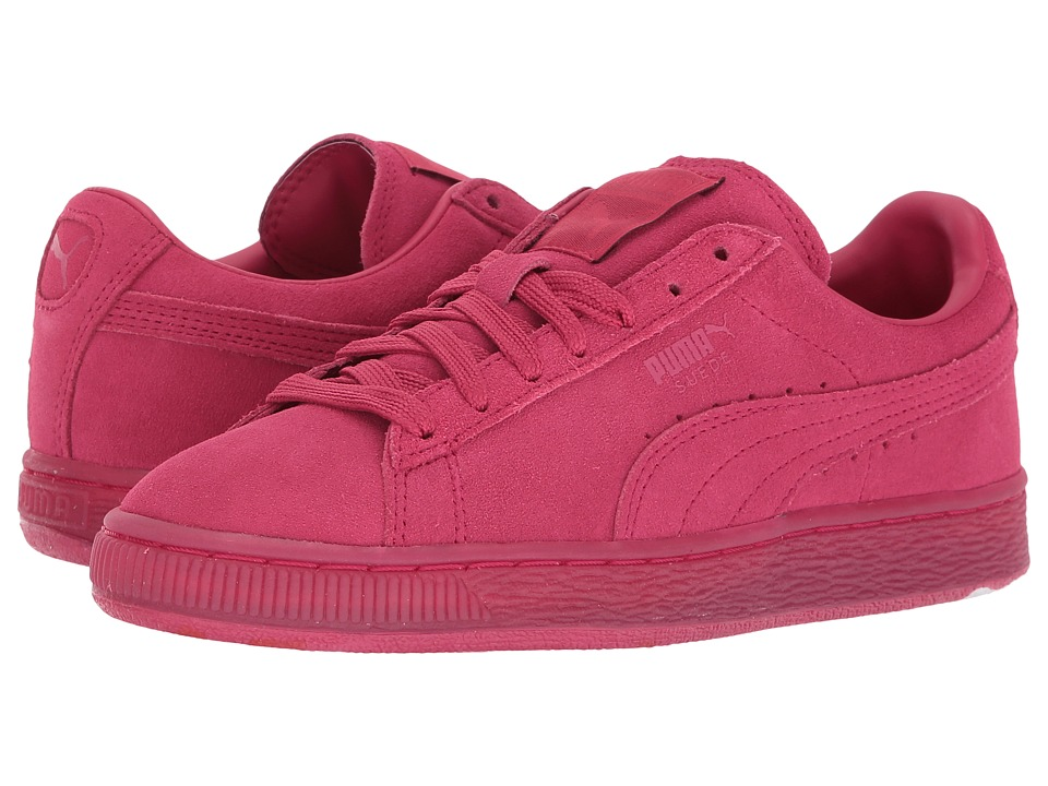 Puma Kids - Suede Classic Ice Mix JR (Big Kid) (Rose Red/Hibiscus) Girls Shoes