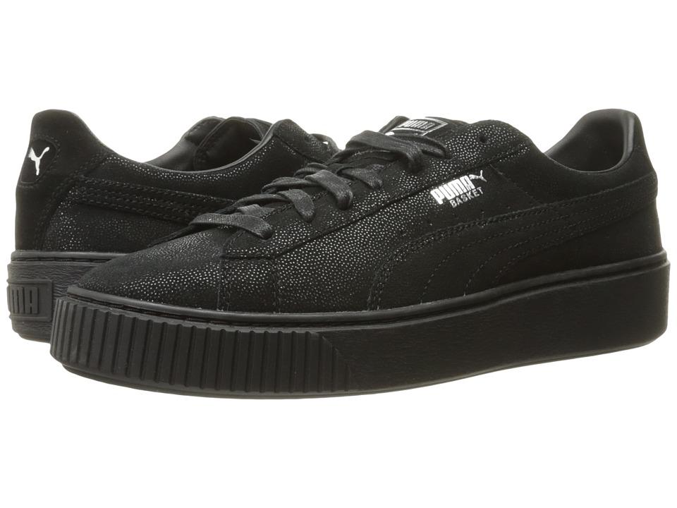 PUMA - Basket Platform Reset (Puma Black/Puma Black/Puma Black) Women's Shoes