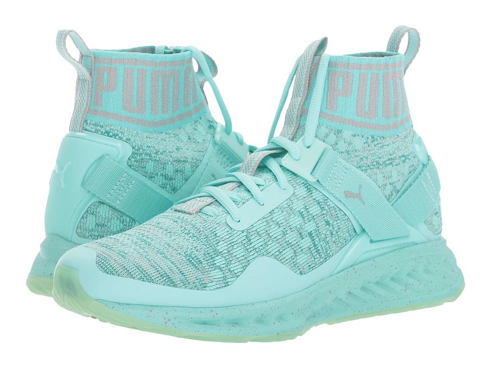 PUMA - Ignite EvoKnit Easter (Aruba Blue/Quarry) Women's Shoes
