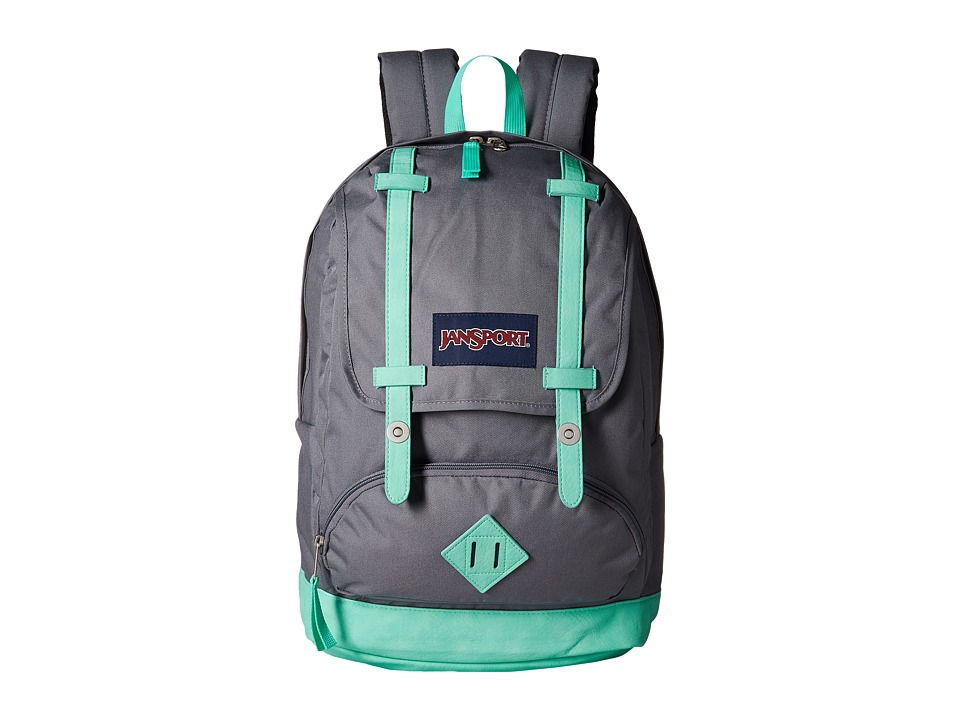 JanSport - Cortlandt Backpack (Shady Grey/Seafoam Green) Backpack Bags