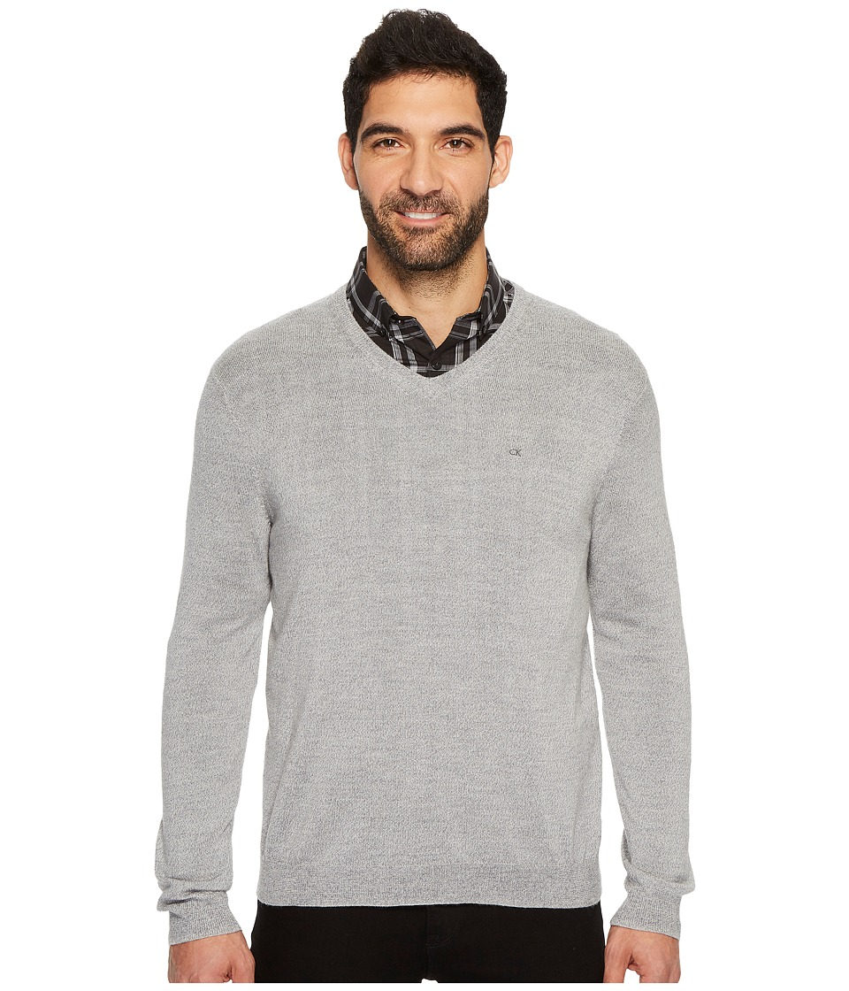 Calvin Klein Solid Merino V-Neck Sweater (Schio) Men