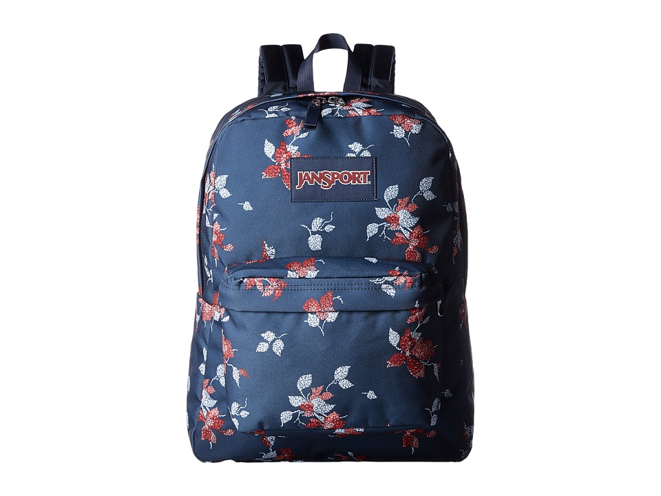 JanSport - SuperBreak (Navy Sweet Blossom) Backpack Bags